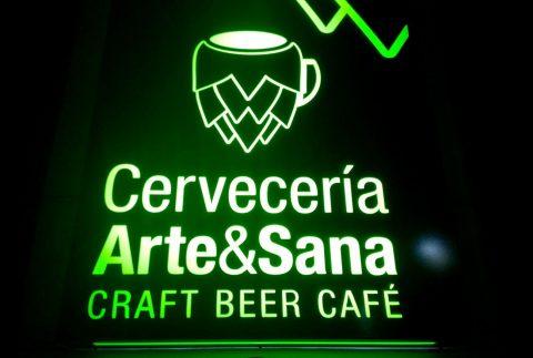 Rotulos Cervería Arte&Sana