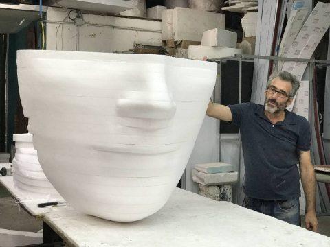 Cara en 3D figuras corpóreas